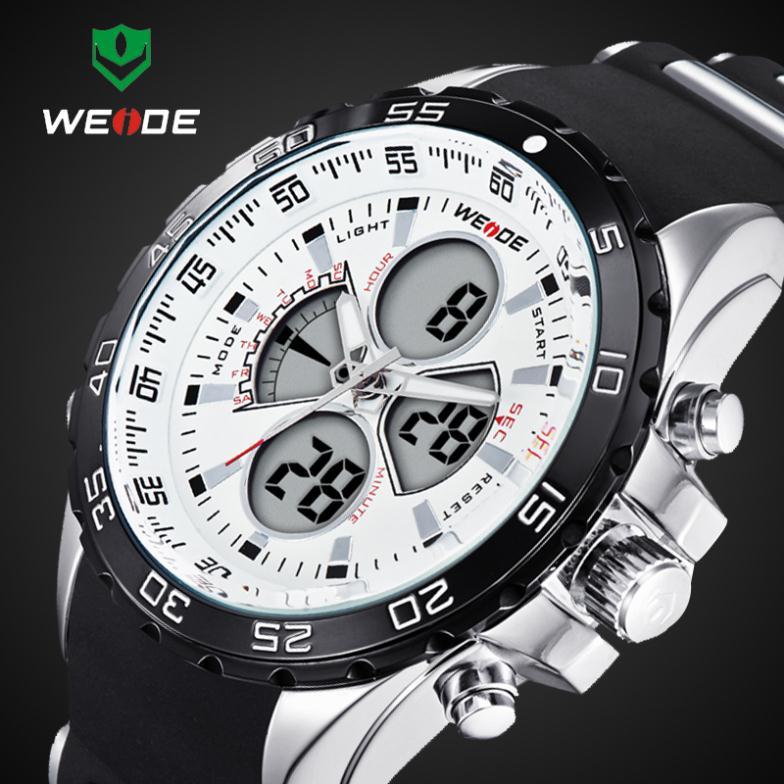 2014 Latest 30 Meters Waterproofed WEIDE Brand Analog Wristwatch Men Sports Watch Japan Quartz Movement Watches 1 Year Guarantee<br><br>Aliexpress