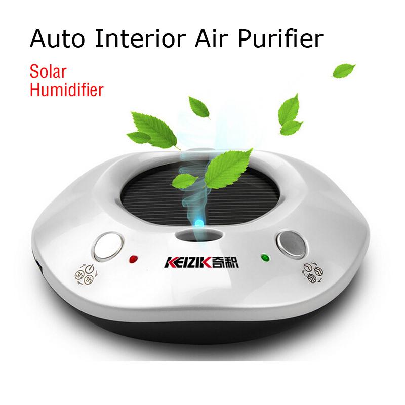 Auto Oxygen Bar Car solar air purifier Car Fresh Air Ionic Purifier Cleaner Add Humidifier Dual-use in house or car(China (Mainland))