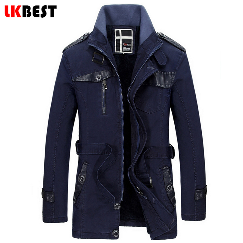 LKBEST 2016 New long trench coat men thick winter coat men British Slim mens overcoat brand clothing male coat trench (FY01)(China (Mainland))