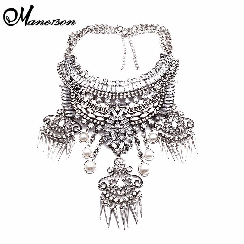 New Big Brand Statement Luxury Newest 2 compound Into 1 Necklaces & pendants Multi Layer Silver Women Necklace B316.331(China (Mainland))
