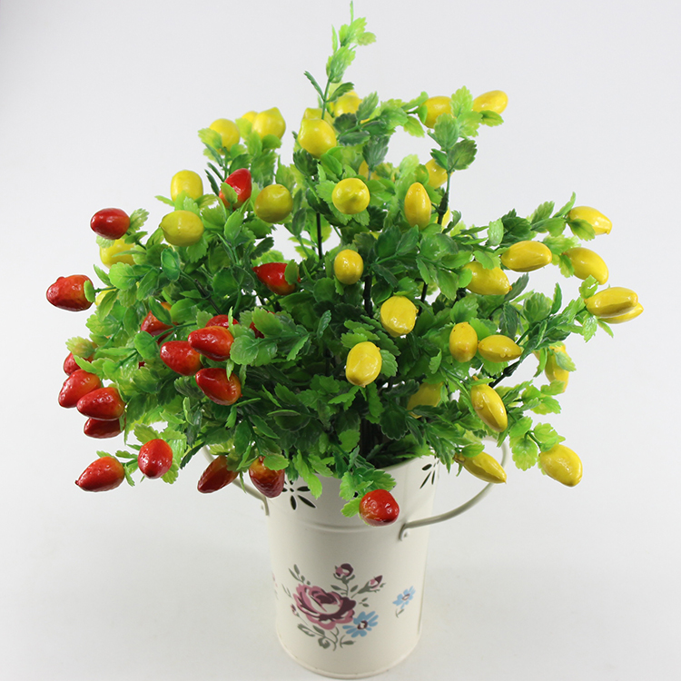 Strawberry artificial flower decoration flower artificial for Artificial fruit for decoration