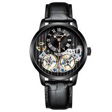 Qualidade AAA Relógio AILANG Caro Dupla Suíça Tourbillon Relógio Mecânico Automático dos homens Relógios Top Marca de Luxo Dos Homens(China)