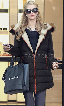 European and American big yards plus thick velvet large size women Slim thin cotton jacket and