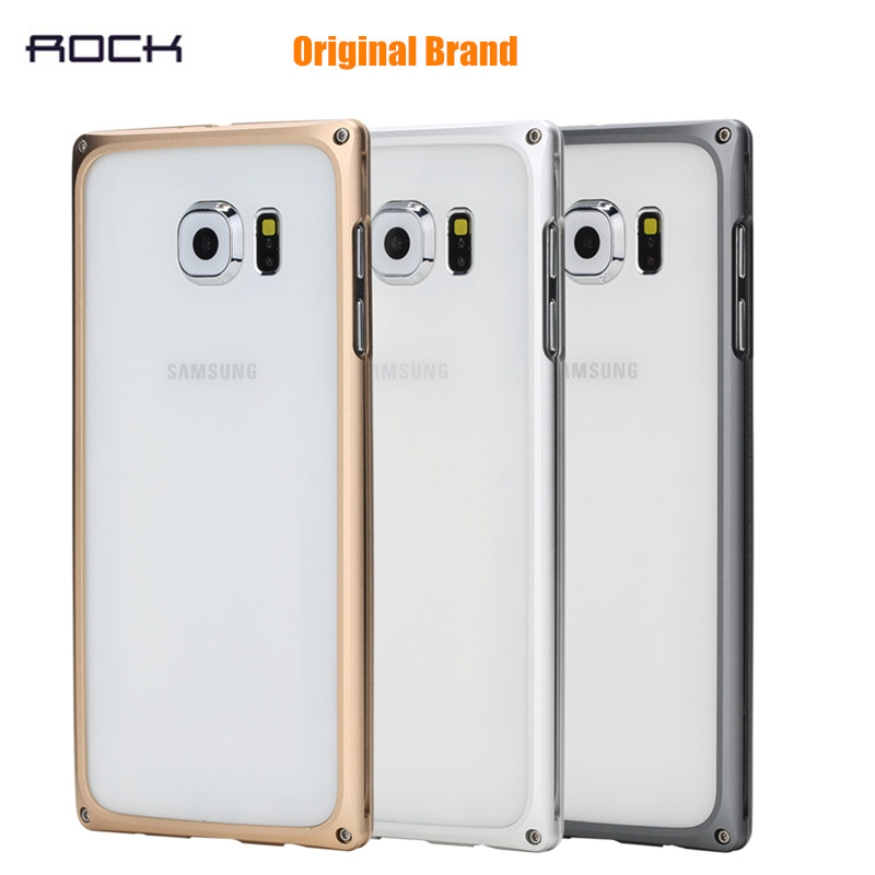 For Samsung Galaxy S6 Original ROCK EVO Series Anti-fall Metal Frame Bumper For Samsung Galaxy S6 Aluminum Protective Frame(China (Mainland))