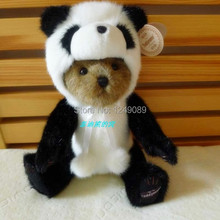 HIgh quality Bearington teddy bear with panda cap Plush Teddy bear chirsmas gift birthday gift for kid