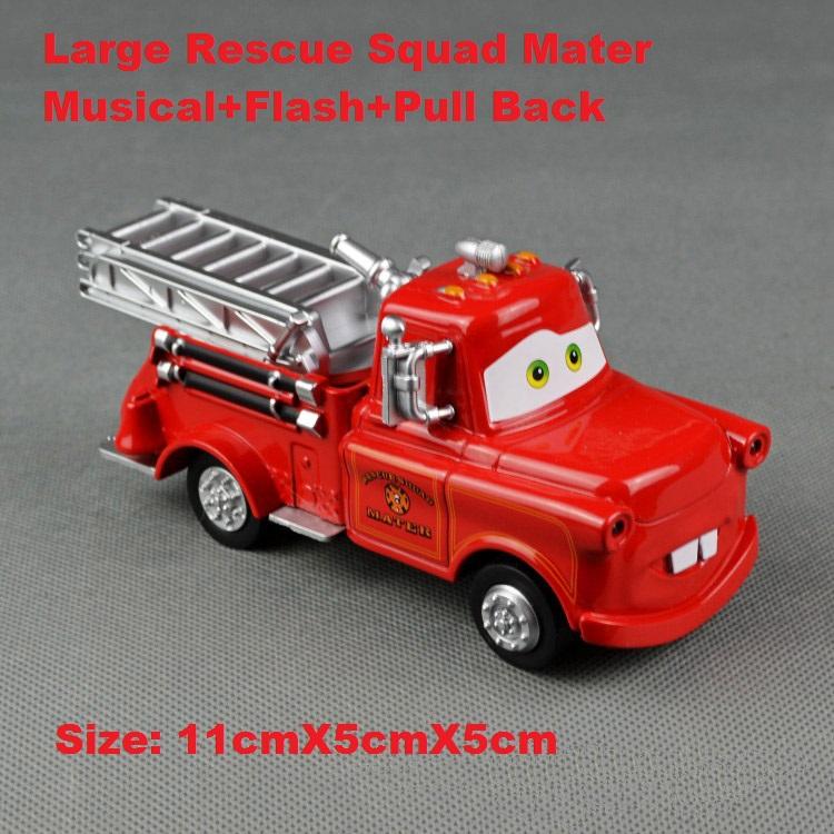 Mater diecast figure toy Alloy car model Truck Diecast Figure Toys Rescue Squad Mater Fire&Rescue Car(Hong Kong)