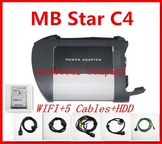 Super diagnostic tool HDD disk with MB SD Connect Compact 4 MB Star C4 With WIFI Compact 4 For MB Series(China (Mainland))