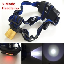 XML T6 LED Headlight Headlamp Head Lamp Light 3-mode torch +EU/US Car charger fishing Lights - Explore006 store