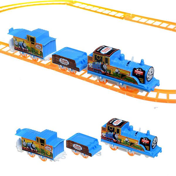 COLORFUL FACE Electrical 3 parts Thomas Train 8 Pcs Railway Track Slot Running FUNNY Toy Child Build Kid family fun(China (Mainland))