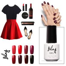 Buy Bling Branding 6ml Nail Gel Polish UV Lamp Needed Nail Beauty Nail Art Red Series 14 Colors UV Nail Varnish for $1.75 in AliExpress store