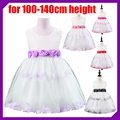 2016 New Summer Children Dress Girls Party High grade Princess Dress Chiffon Chic Waist Flower Dance