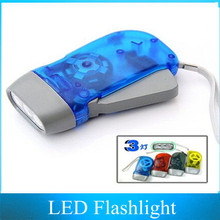 200PCS 3 LED Hand-pressing Flashlight / hand pressing self power Flashlight not need Battery(China (Mainland))