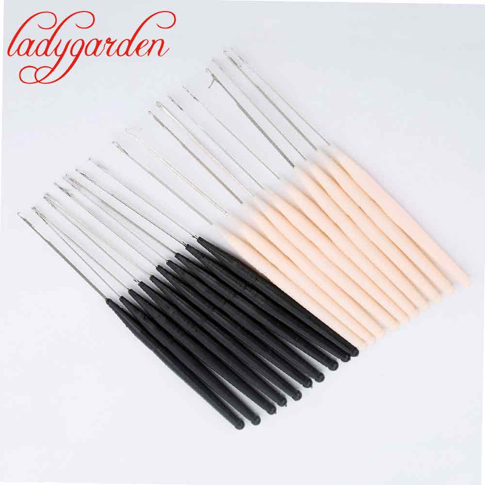 10PCs Soft Plastic Handled Metal Hook Crochet Hooks Needles Kit Knitting Needles Weave Knitting DIY Sewing Accessories