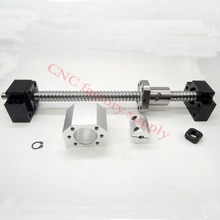 SFU1605 set:SFU1605 L500mm rolled ball screw C7 end machined + 1605 nut housing+BK/BF12 support coupler - CNC factory supply store
