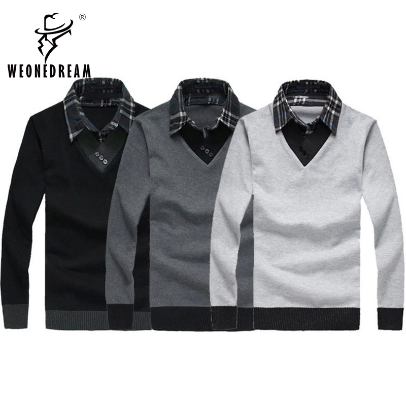 Christmas Sweaters Mens slim fit V-neck Bottoming Sweaters fashion knitwear for men classic men's pullover knitting M-XXL(China (Mainland))