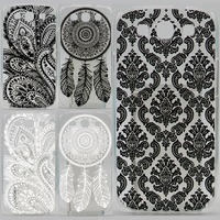 Case For Samsung Galaxy S3 i9300 Black Hollow Out Texture Coloured Drawing Phone Cover For Samsung S3 Hard Plastic Phone Cases