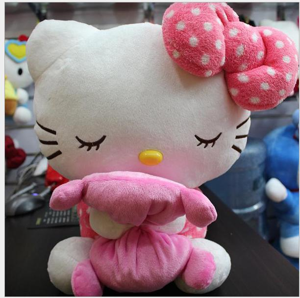New arrival baby toy 18cm-20cm plush cat kawaii hello kitty toys plush girl doll cartoon dolls animal toys Sleeping Kitty(China (Mainland))