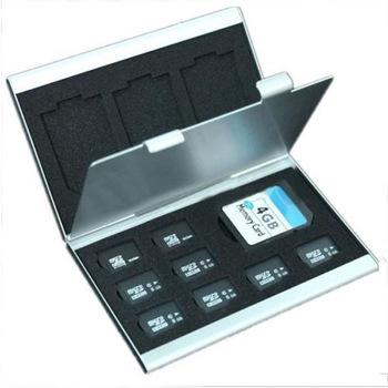 Флэш памяти микро-карточка TF карты алюминия протектор коробка для хранения чехол обложка держатель