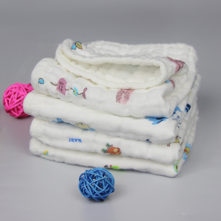 30*30cm pure cotton&gauze fabric for 6 layers cotton gauze baby towe,1Y48266(China (Mainland))