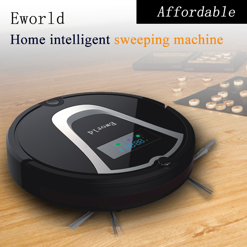 Eworld 2016 Newest Plastic Material and Floor Sweeper Machine Type Electric Home Sweeper Robot Vacuum Cleaner M884 Black(China (Mainland))