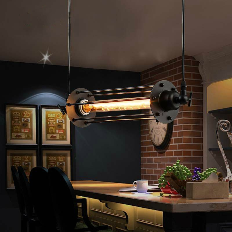 Lukloy industrial retro vintage chandelier flute light for Bar fixtures