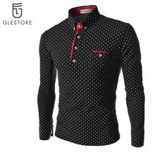 2016 Fashion Mens Polo Short Sleeve Print Slim Fit Shirts for Men Polo Shirts Summer Plus Size Camisa Polo Masculina
