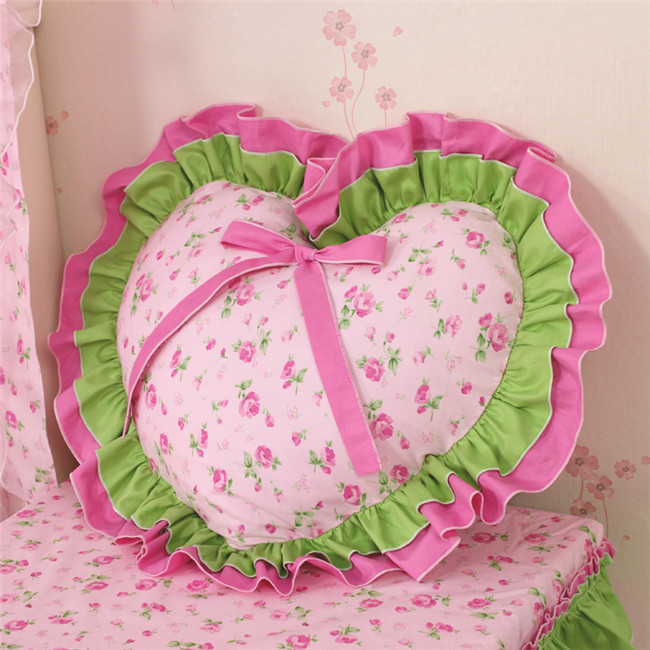 Sunny Korean Princess SNQH sofa cushion cover Heart shaped cushion pillow case pillow cover without core