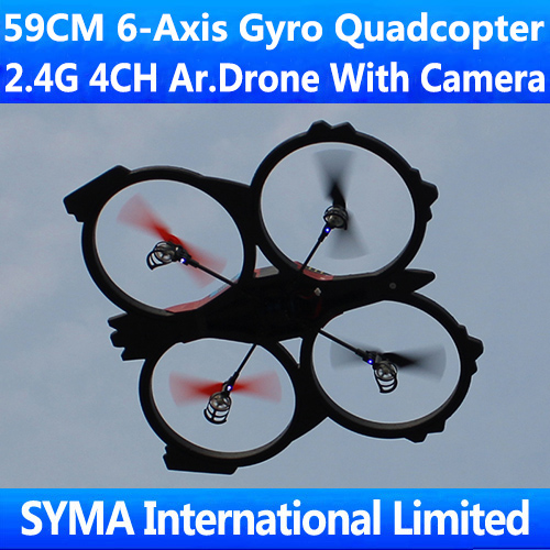 New Arrival 59CM Largest 2.4Ghz 4.5CH With Camera 6-Axis GYRO RC Quadcopter VS Parrot AR.Drone 2.0 Quad Copter Helicopter BR6802(China (Mainland))