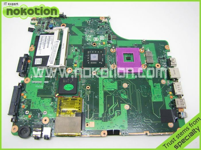 Фотография V0001258201310A2169906 REV 2.01 For Toshiba Satellite A300 A305 Laptop motherboard GM45 DDR2 Socket 478 Mainboard