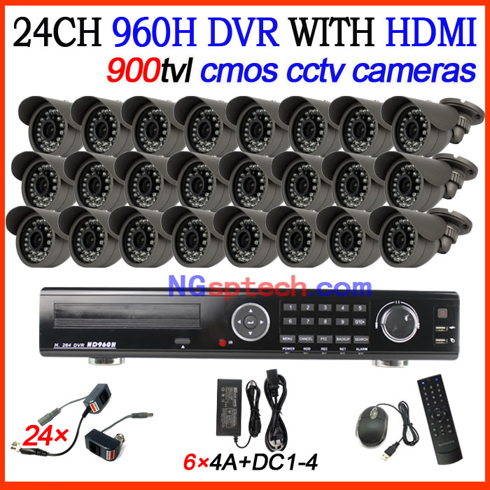 Home security CCTV DVR 24CH DVR recorder with HDMI output plus 24pcs waterproof cctv cameras cctv camera system diy kit<br><br>Aliexpress
