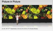 Tv studio LCD video wall 0 mm bezel Spliced video wall 4x8 lg  55'' Full HD LCD video wall(China (Mainland))
