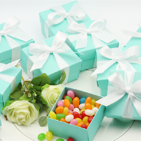Wedding Favors -120pcs/lot Tiffany Blue Candy box Wedding Candly holders Party and Birthdays Gifts(China (Mainland))