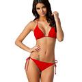 2016 New Summer Sexy Bikini Push Up Swimwear Women Swimsuit Solid Beach Bathing Suits Plus Size