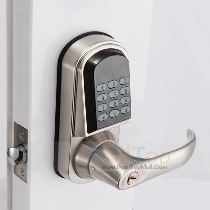 intelligent keypad password code combination door lock digital keyless electronic door locks. Black Bedroom Furniture Sets. Home Design Ideas