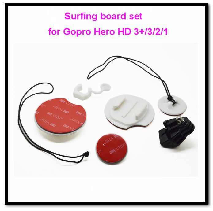 DHL 30pcs/lot GoPro Accessories Surfboard Mounts &Camera Tethers&FCS Plug & Rubber Locking Plug For Gopro Hero HD 3+/3/2/1 GP105(China (Mainland))