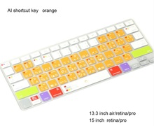 for Apple Macbook Keyboard Cover 11″13″ 15″ Rainbow Laptop Keyboard Stickers US Version Silicone Skin Protector Covers