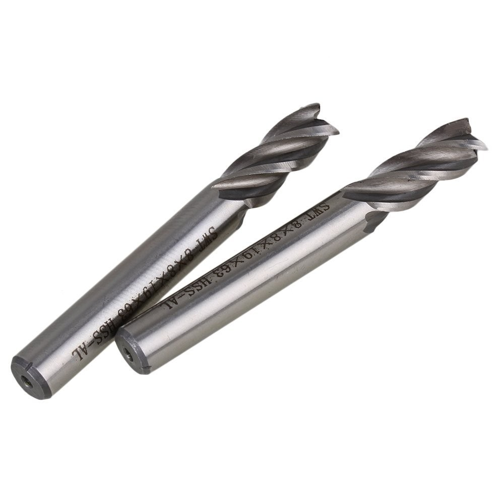 1 pcs  8*8mm HSS CNC Straight Shank 4 Flute End Mill Milling Cutter Metal Drill Bits Cutting Tools P37