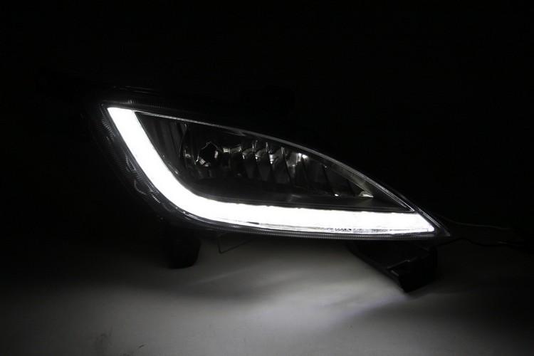 eeMrke Car LED DRL For Hyundai Elantra GT i30 2012 2013 High Power Xenon White Fog Cover Daytime Running Lights Kits