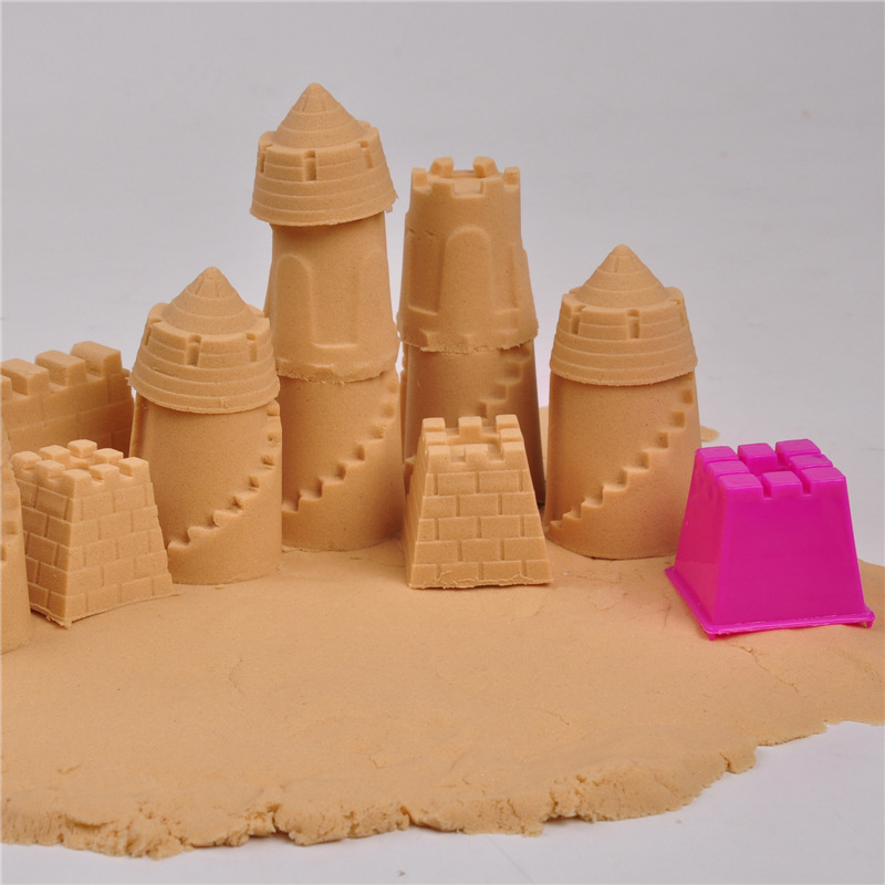 6pcs Castle Sand Clay Mold Building Sights Sandcastle Beach Sand Toys Portable Baby Children Kids Educational Mould Toys(China (Mainland))