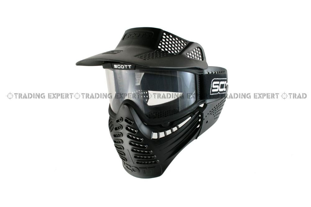 Scott Paintball Airsoft Full Mask [MK-08-BK] 01020(China (Mainland))
