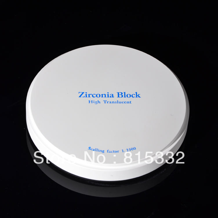OD98x14mm High Translucent dental zirconia disk for CAD CAM system