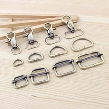 Bag Parts & Accessories Luggage Bronze Straps buckles Snap hook/Dog,Bag hanger Lobster Clasp D ring 8set/lot(China (Mainland))