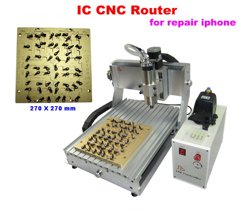 10 In 1 LY IC cnc router 3040 CNC Milling Polishing Engraving Machine Apple Free tax to Russia(China (Mainland))