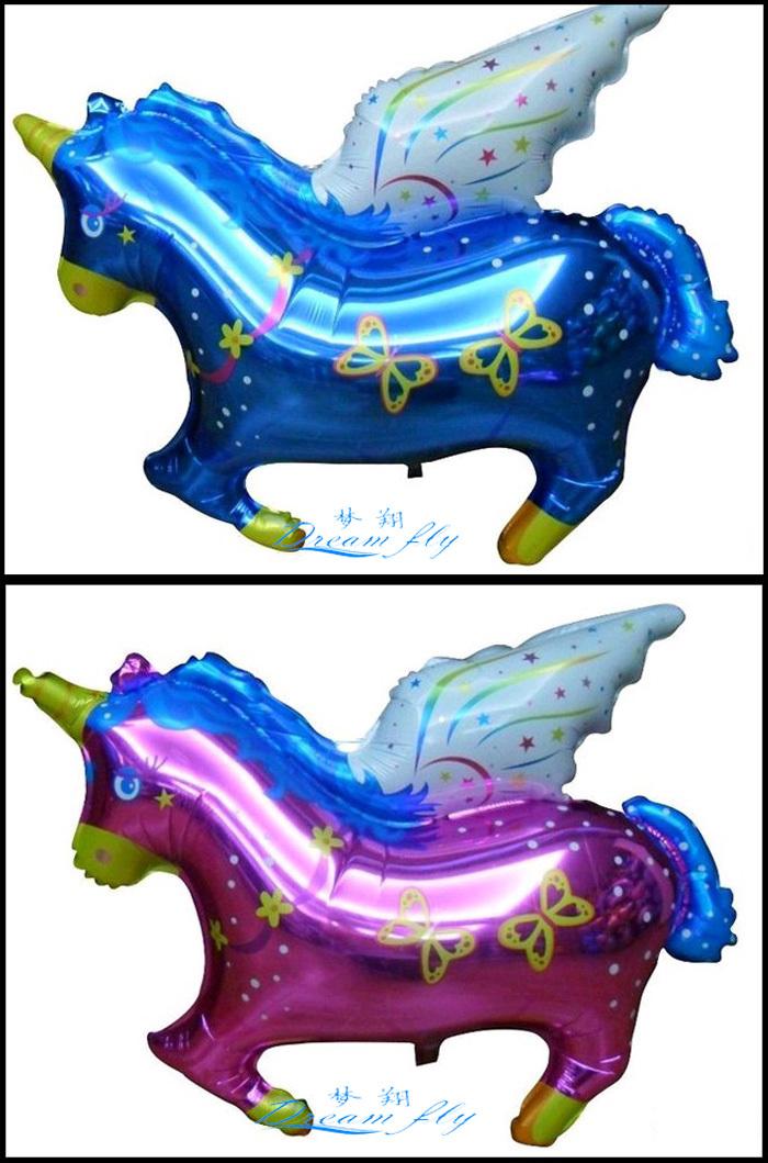50pcs/lot flying horse shape balloon children toy balloon(China (Mainland))