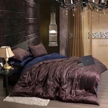 Flannel Fleece Winter Thick Duvet cover sets Coffee Queen King size 4pcs Warm Velvet Bedding set bedclothes Bedsheet/Bed linen(China (Mainland))