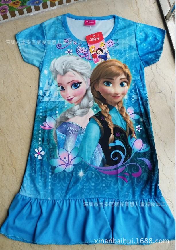 Baby girls dresses fantasia costume anna dress minnie casual kids