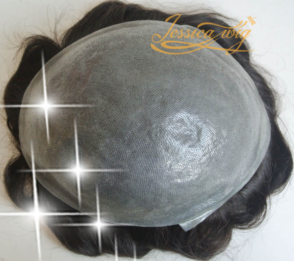 Customized Super Durable Thin Skin toupee, All V Looped Silicone Base Hair System For men(China (Mainland))