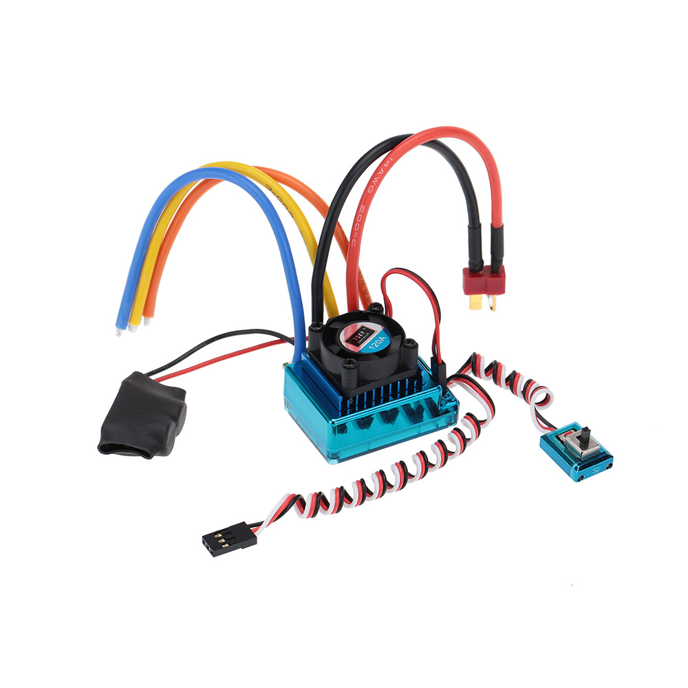 120A Sensored Brushless ESC Speed Controller for 1/8 1/10 1/12 RC Car Crawler(China (Mainland))