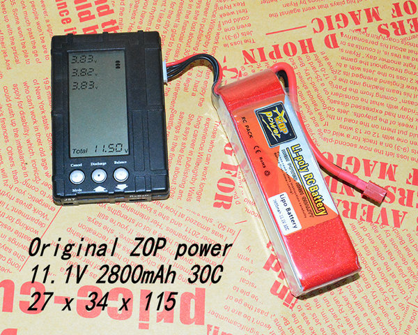 2PCS ZOP POWER 11.1V 2800mAh 3S 30C T Plug RC LiPo Battery AKKU For Trex 450 Helicpter 6CH WALKRA Original(China (Mainland))