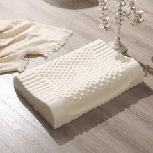 PurenLatex 60x40 Tailandia almohada de látex Natural puro cuello corrector protege las vértebras cuidado de la salud almohada ortopédica rebote lento(China)